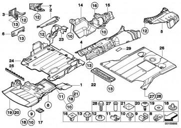 Abschirmung Motorraum vorne mit Absorber  3er  (51718204892)