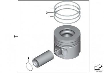 Reparatursatz Kolbenringe (0) 3er 1er X1 2er 4er MINI  (11257812630)