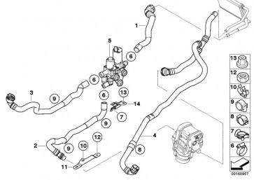 Schlauch Heizkörper-Motorrücklauf (64219111766)