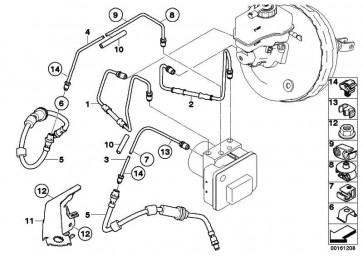 Rohrleitung mit Druckschlauch M12/M12         1er 3er  (34326853504)