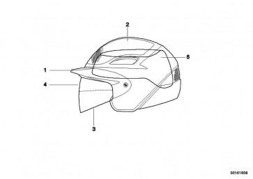 Sichtscheibe kurz für Air Flow Helm   (72607659092)