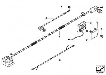 B+ Leitung mit SBK Rep.Kabel 35MM² / 5610MM  MINI  (61119136722)