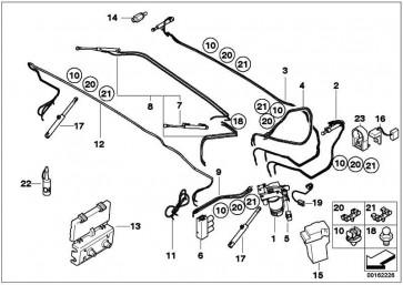 Hydraulikzylinder Verdeckklappe links  3er  (54348243269)