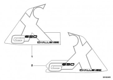"""Schriftzug """"G650Xchallenge"""" links  K15  (51147696921)"""