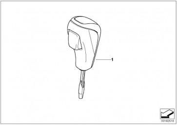 Wählhebelgriff Leder / Kunststoffspange SCHWARZ HOCHGL. 1er 3er  (25160415481)