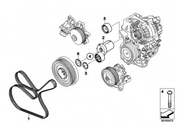 Riemenspanner mechanisch  1er 3er 5er 7er X1 X5 X6  (11287800333)