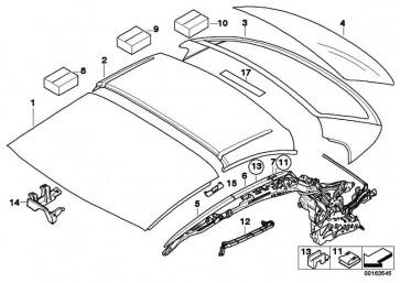 Zierleiste Dach grundiert rechts  3er 4er  (54377184028)