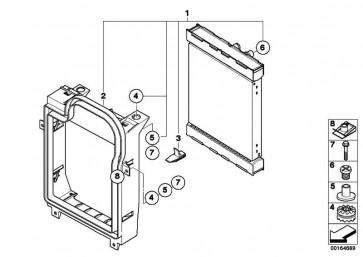 Kühlmittelkühler  X5 X6  (17117586544)
