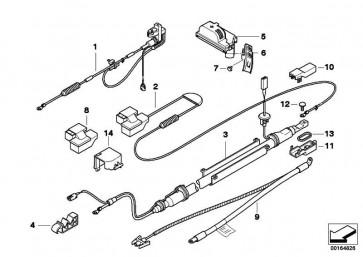 Abdeckung Batterie Pluspol  5er 6er  (61136929762)