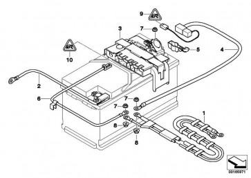 Leitung Batterie plus  1er  (61129125032)