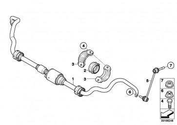 Gummilager Stabilisator  5er 6er 7er X5 X6  (37116771932)