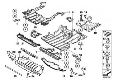 Motorraumabschirmung Spitze links  3er  (51757896419)