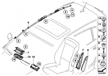 Seitenairbag Sitz vorne links  1er  (72126981121)