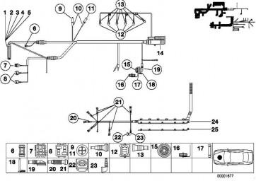 Buchsengehäuse schwarz 2 POL. 1er 3er 5er 6er 7er 8er X1 X3 X5 X6 Z3 Z4 Z8 MINI  (61131378108)