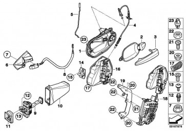 Träger mit Verschluss m. Schlüssel li.  5er  (51217127799)