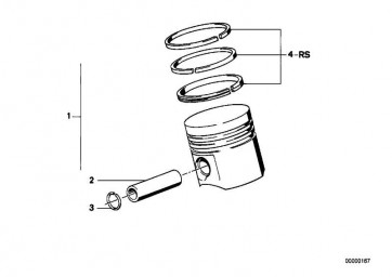 Reparatursatz Kolbenringe 95,155MM(+0,20) 3er  (11251316983)