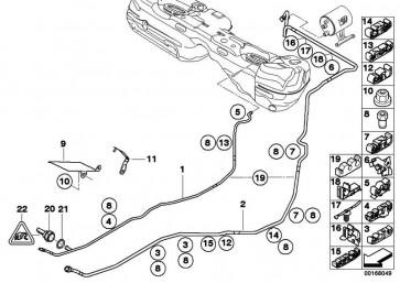 Kraftstoffvorlaufleitung  3er X1  (16127172162)
