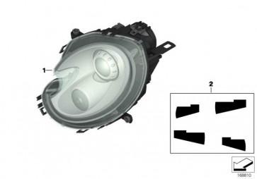 Scheinwerfer Bi-Xenonlicht rechts  MINI  (63127269986)