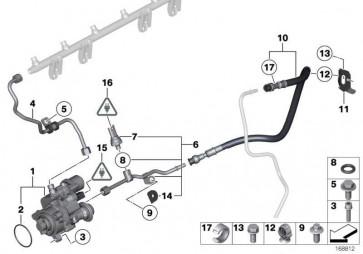 Halter Kraftstoffschlauch  3er 1er 4er 2er X4 MS  (13317561295)