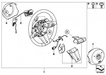 M Sportlenkrad Airbag Multif./Steptronic PERLGLANZ CHROM Z4  (32307841386)