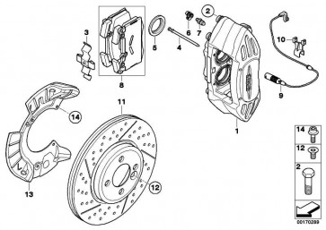 Clip Bremsbelagfühler  X5 X6 MINI  (34356783517)
