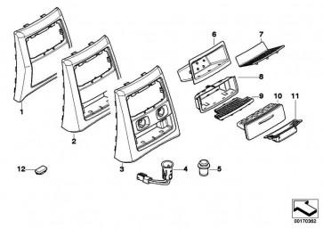 Steckdose Anzünder mit LED 3 POL.          3er  (61349221620)