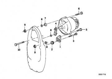 Sechskantmutter M8-ZNS3         1er 3er 5er 6er 7er  X1 X3 X5 X6 Z3 Z4 MINI  (07119904024)
