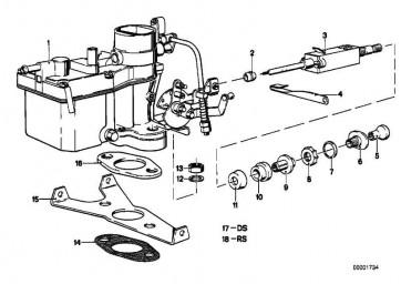 Reparatursatz Vergaser PDSI             5er  (13111289074)
