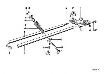 Auslassventil mit Schaftaufmass +0,2mm 36,0/7,16MM 5er 3er Z1  (11341714787)