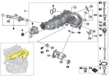 Steckhülsengehäuse 5 POL. CODE A   1er 3er 5er 7er X1 X3 X5 X6  (12527804201)