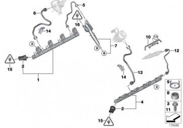 Hochdruckleitung 1-4             X6 7er X5 5er 6er  (13537548711)