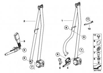 Sicherungsblech  X5 X6 7er 5er  (72119140944)