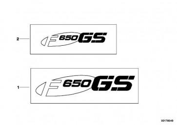 Schriftzug F650GS rechts  K72  (46637724512)