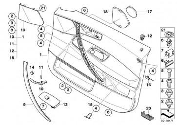 Türverkleidung Leder vorn links SANDBEIGE       (51413418843)