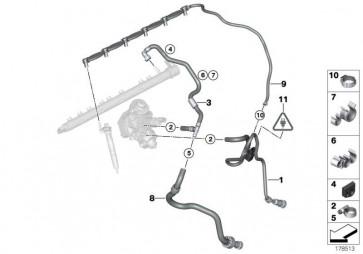 Kraftstoffrücklaufleitung (13537808100)
