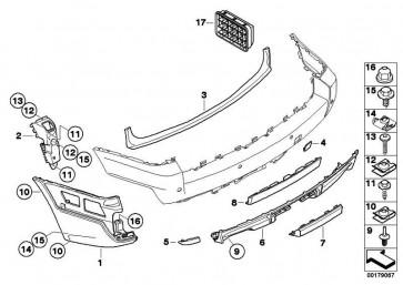Klappe Anhängerkupplung  X3  (51123416243)