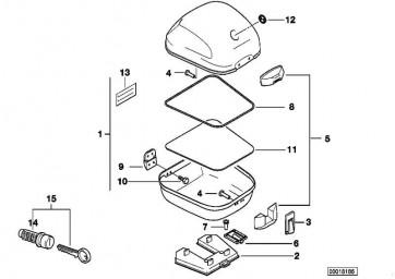 Schliesszylinder mit Code  E169  (51252316739)