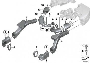 Luftkanal 1-4 5er 6er  (13717624030)
