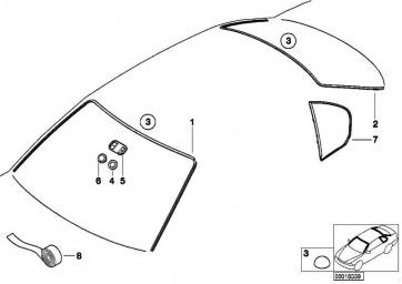 Abdichtung Seitenscheibe hinten links  3er  (51348194693)