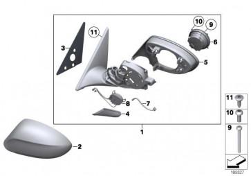 Aussenspiegel ohne Glas beheizt rechts  Z4  (51167281984)