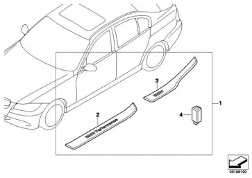 Einstiegsleiste beleuchtet hinten rechts BMW PERFORMANCE 3er  (51472151844)
