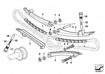 Zylinder für Kettenspanner links   (11317688629)
