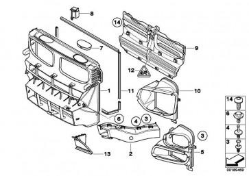 Bremsluftkanal rechts  X5  (51747158380)
