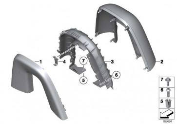 Abdeckung Überrollschutz hinten links  Z4  (51439181607)