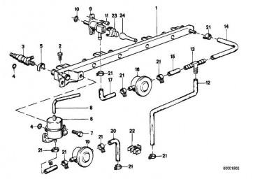 Halter Kraftstoffschlauch  3er 5er  (13311714455)
