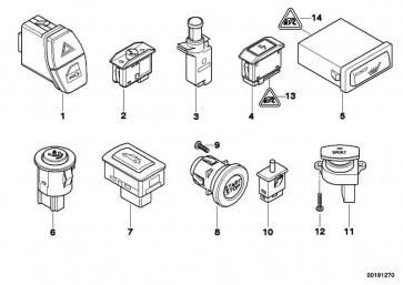 Schalter Anhängerkupplung  3er 5er 7er X3 X5 X6  (61319272858)