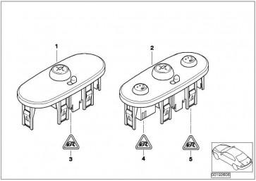 Schalter Spiegelverstellung/Sitzheizung  MINI  (61316918217)