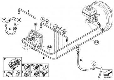 Bremsschlauch vorne  X5 X6  (34306853743)
