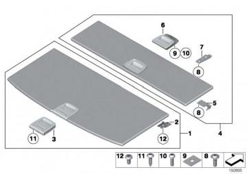 Griff Einlegeboden Gepäckraum SCHWARZ 5er  (51477267484)