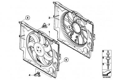 Lüfterzarge  1er 3er X1  (17427794232)